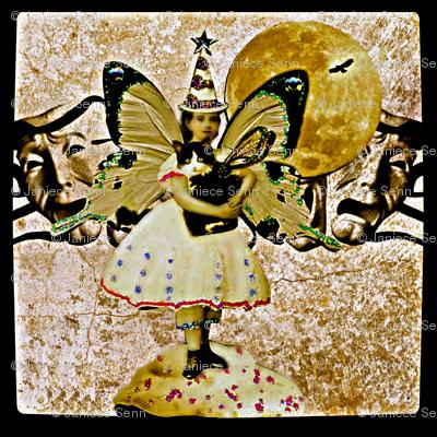 The Cupcake Fairy throw pillow