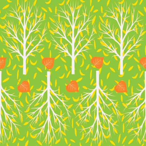 leaf tracks fabric by keweenawchris on Spoonflower - custom fabric