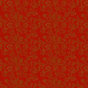 Turkey Red Brocade