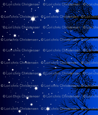 Night sky border small