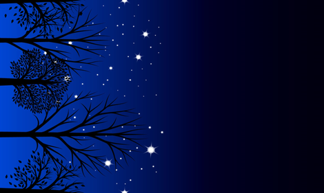 Night sky border large