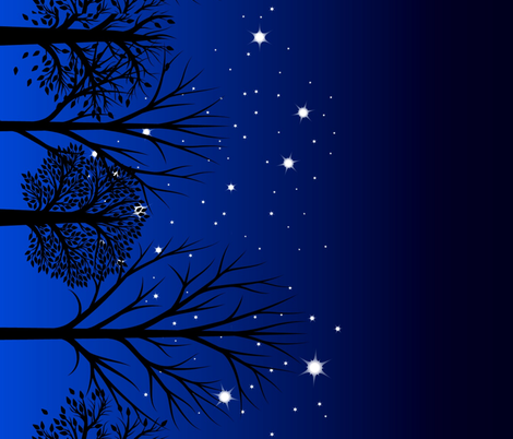 Night sky border fabric by keweenawchris on Spoonflower - custom fabric