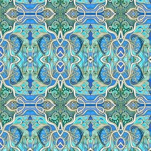 Art Nouveau Paisley Blues