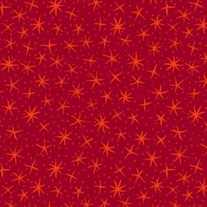 stellate whimsy - dark red