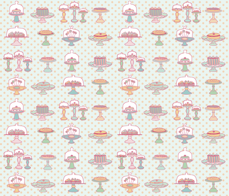 Pastries fabric by emilieblackburn on Spoonflower - custom fabric