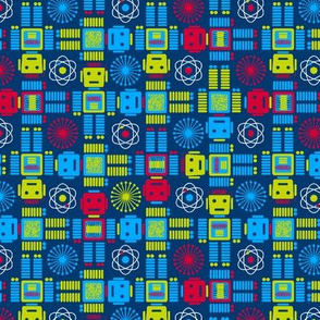 Robots Forever Small Plaid