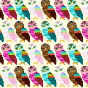 How Now Owls Lined Up in a Row