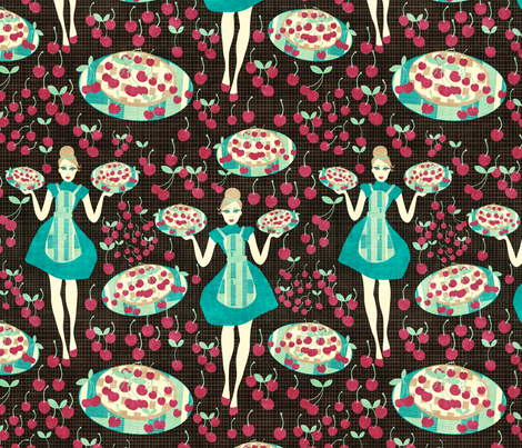 very cherry pie fabric by kociara on Spoonflower - custom fabric