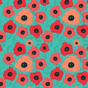 poppy spin green