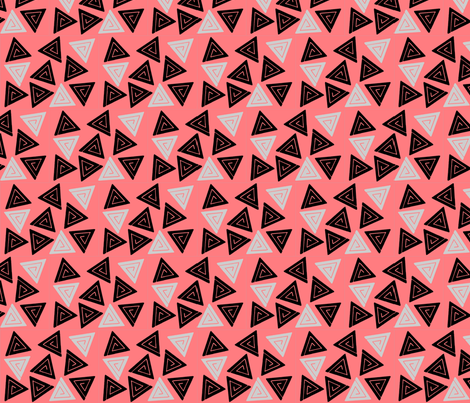 Geo-Pink fabric by hannahmia on Spoonflower - custom fabric