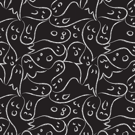 Boo! fabric by mag-o on Spoonflower - custom fabric