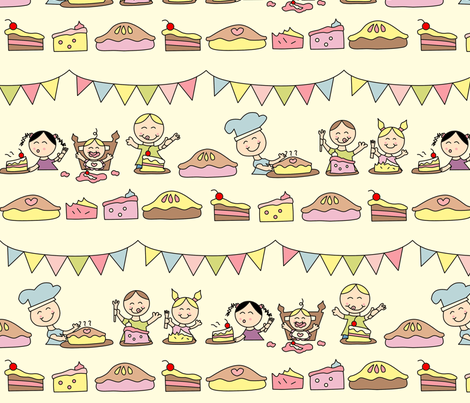 The Pie Shop fabric by anikabee on Spoonflower - custom fabric