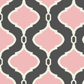 Alessandra Trellis in Charcoal and Pink Peppermint