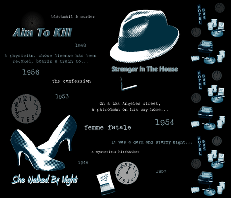 'Film Noir' Take Five fabric by spontaneouscombustion on Spoonflower - custom fabric