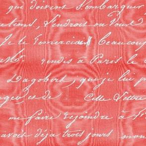 Dangerous Liaisons ~ Cinnabar Moire with Silver Script