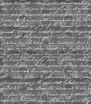Dangerous Liaisons ~ Danceny Moire with Silver Script
