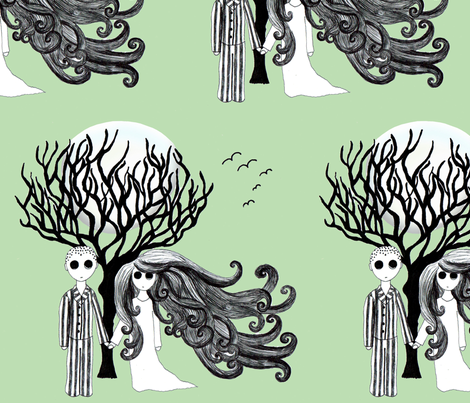 little spooks fabric by raebies on Spoonflower - custom fabric
