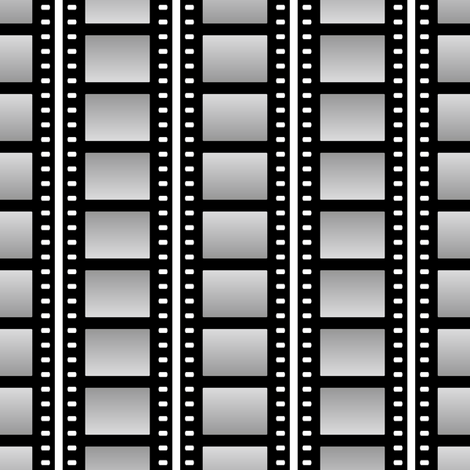 film cell stripe - black and white
