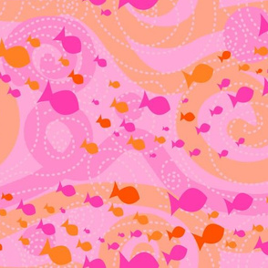 Barrier Reef - Pink & Orange