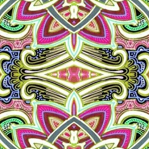 Big Technicolor Paisley Conundrum