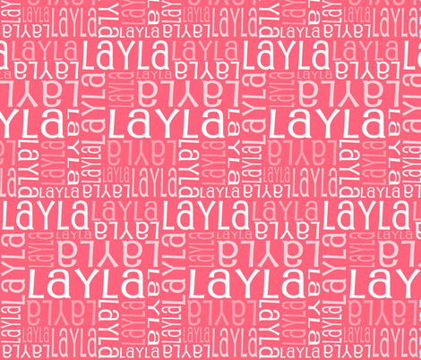 Personalised Name Fabric - Coral