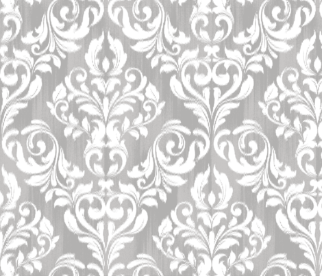 Damask Ikat fabric by kwikdrw on Spoonflower - custom fabric