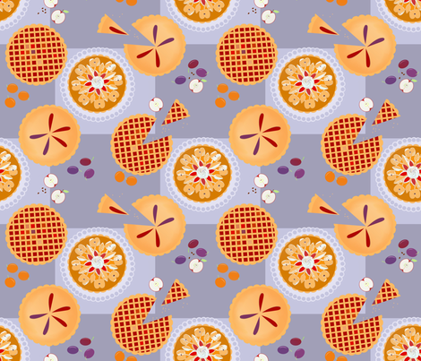 Pie tasting! fabric by alfabesi on Spoonflower - custom fabric