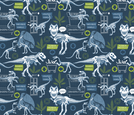 dinosaurs just want to have fun reduced fabric by cjldesigns on Spoonflower - custom fabric