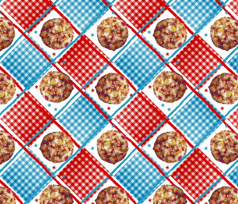 American As Peach Pie fabric by stephloren on Spoonflower - custom fabric