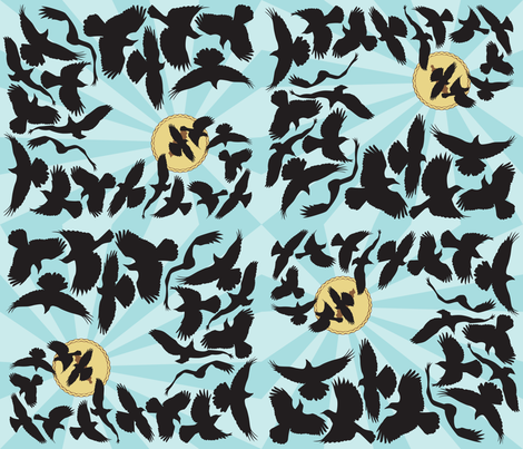 Blackbird_Pie fabric by aalk on Spoonflower - custom fabric