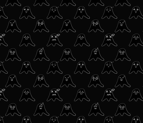 Ghosties fabric by fk on Spoonflower - custom fabric