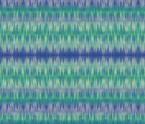 ocean waves ikat fabric by glimmericks on Spoonflower - custom fabric