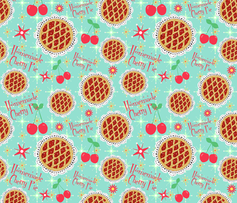 Oh my, cherry pie! fabric by arttreedesigns on Spoonflower - custom fabric