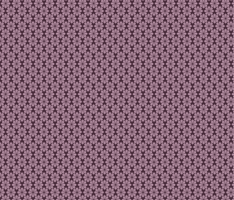 Plum deco geometric floral fabric by crowlands on Spoonflower - custom fabric