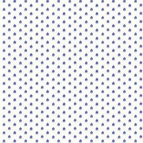 tiny blue print