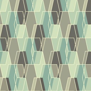 Elongated Hexagon Composite - Aqua