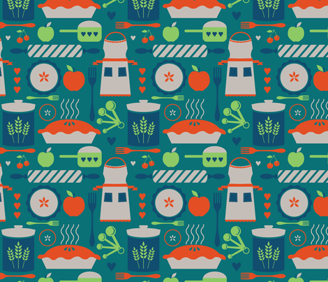 Sweet as Pie fabric by twoifbyseastudios on Spoonflower - custom fabric