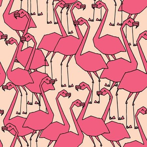 Flamingos - Blush/French Rose by Andrea Lauren