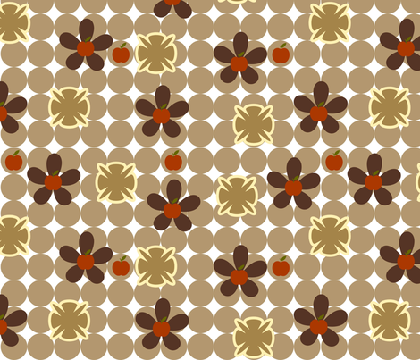 Cinnamon Apples fabric by firedryad1 on Spoonflower - custom fabric