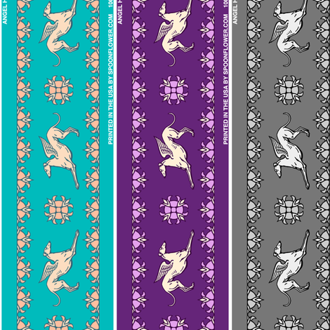 Angel Hound Grreyhound ©2012 by Jane Walker fabric by artbyjanewalker on Spoonflower - custom fabric