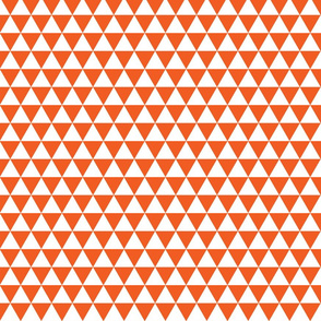 Orange and White Triangles
