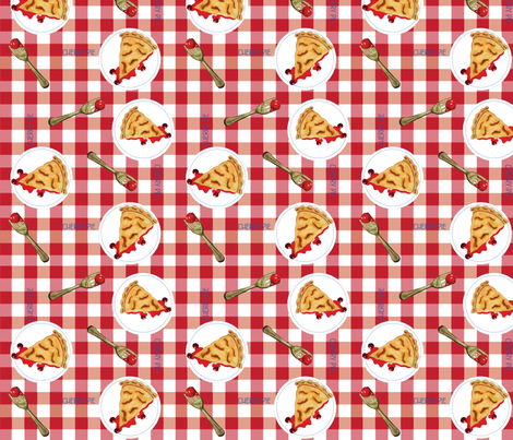 Pie fabric by chooks on Spoonflower - custom fabric