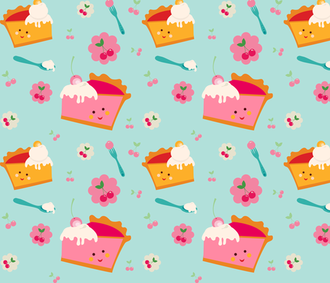 ZAKKA kids Piece Of Pie fabric by zakkasweetdesign on Spoonflower - custom fabric