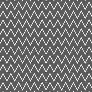 Grey & White Zig Zag