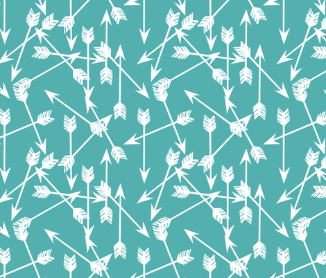 Arrows Scattered - Tiffany Blue/White by Andrea Lauren