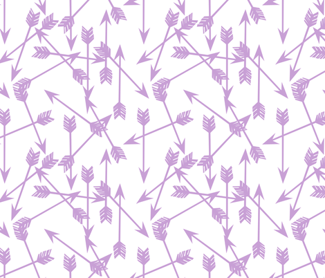 arrows scattered // purple pastel lavender lilac  fabric by andrea_lauren on Spoonflower - custom fabric
