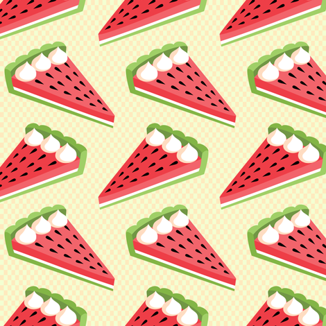 Watermelon pie fabric by petitspixels on Spoonflower - custom fabric