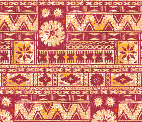 Fijian Tapa 1d fabric by muhlenkott on Spoonflower - custom fabric
