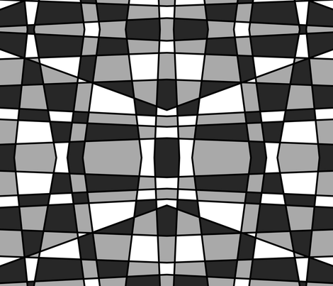 Large geometrics in black, white and grey fabric by whimzwhirled on Spoonflower - custom fabric