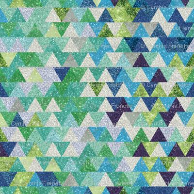 Ombre Triangles- Winter
